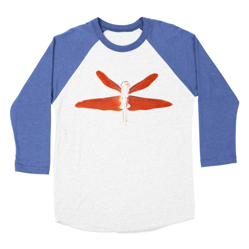 Dragonfly (Orange) Men's Baseball Triblend Longsleeve T-Shirt by 7thSin Apparel