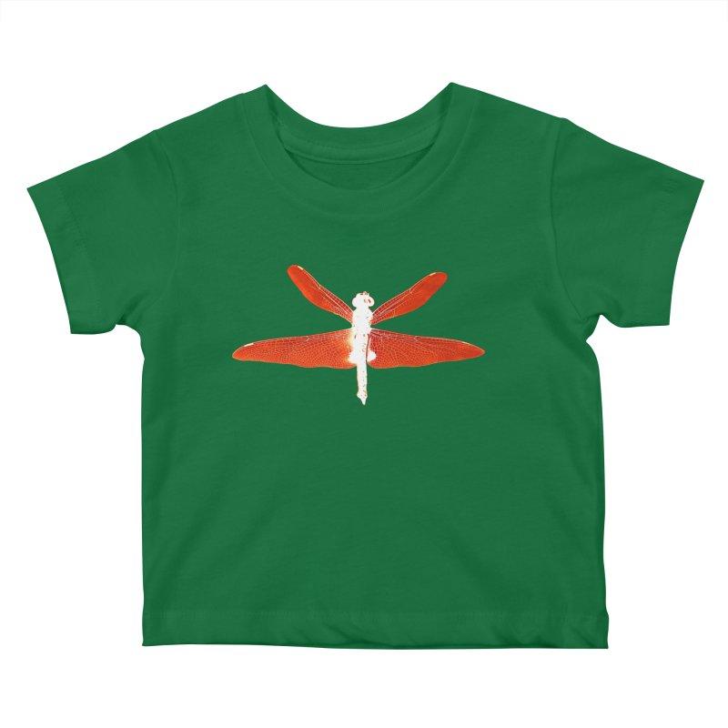 Dragonfly (Orange) Kids Baby T-Shirt by 7thSin Apparel