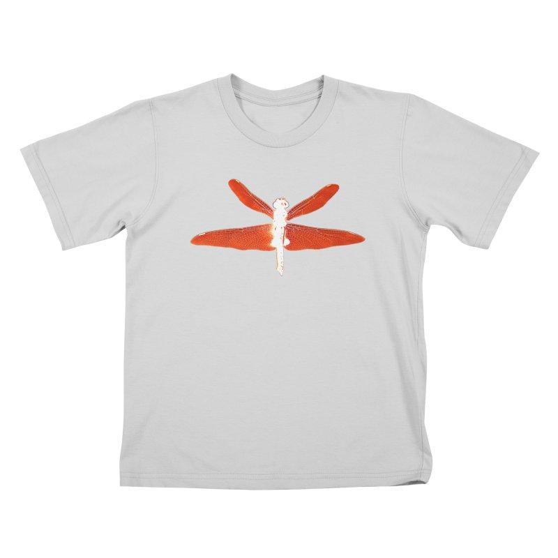 Dragonfly (Orange) Kids T-Shirt by 7thSin Apparel