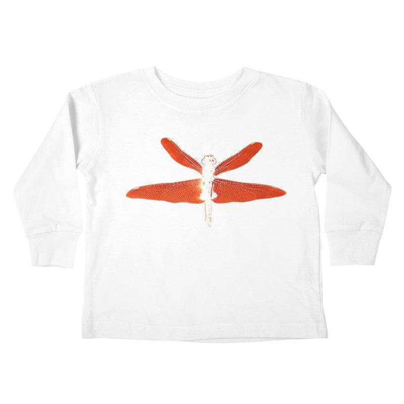 Dragonfly (Orange) Kids Toddler Longsleeve T-Shirt by 7thSin Apparel