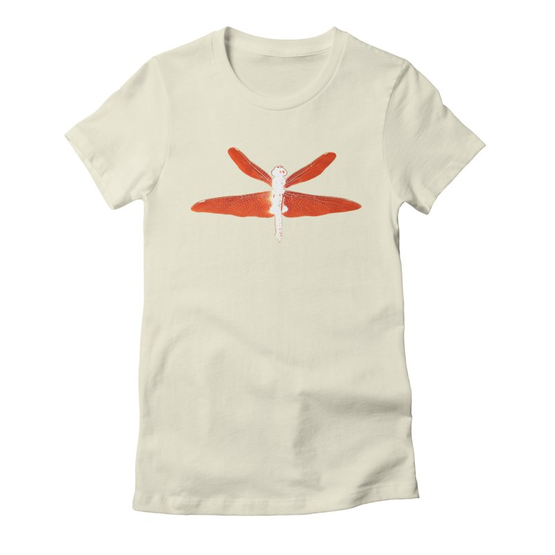 Dragonfly (Orange) Women's Fitted T-Shirt by 7thSin Apparel