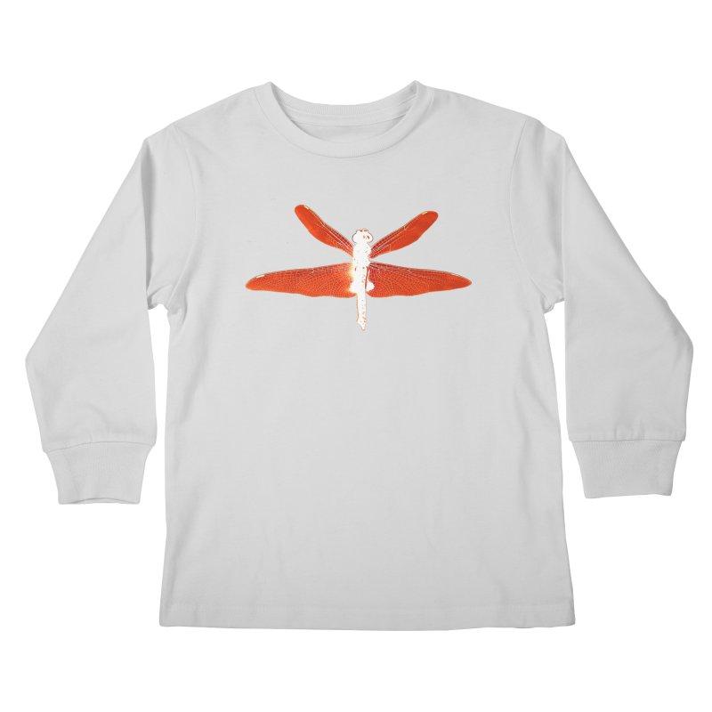 Dragonfly (Orange) Kids Longsleeve T-Shirt by 7thSin Apparel