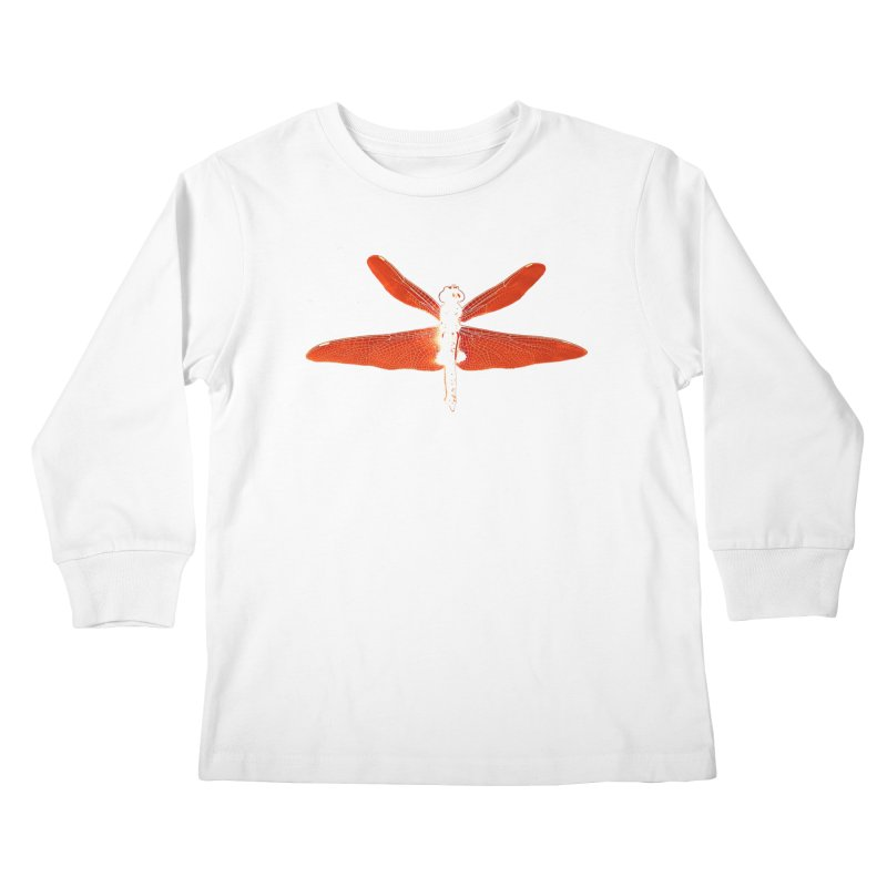 Dragonfly (Orange) Kids Longsleeve T-Shirt by 7thSin Apparel