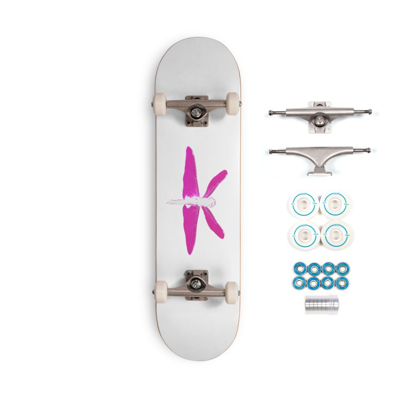 Dragonfly (Pink) Accessories Skateboard by 7thSin Apparel