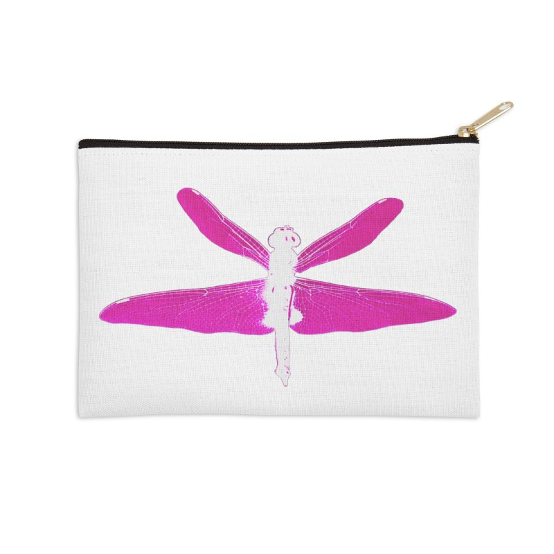 Dragonfly (Pink) Accessories Zip Pouch by 7thSin Apparel