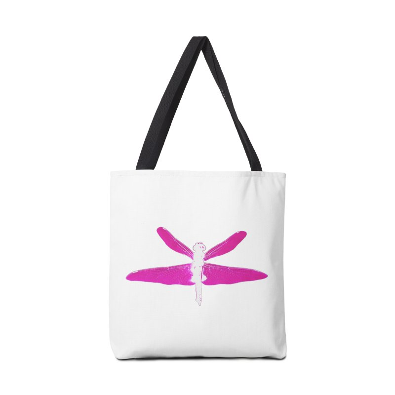 Dragonfly (Pink) Accessories Tote Bag Bag by 7thSin Apparel