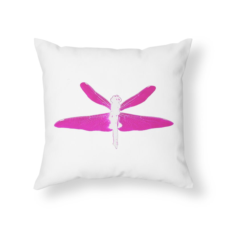 Dragonfly (Pink) Home Throw Pillow by 7thSin Apparel