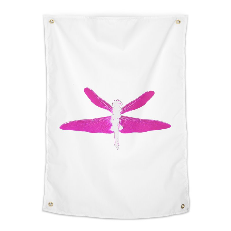 Dragonfly (Pink) Home Tapestry by 7thSin Apparel