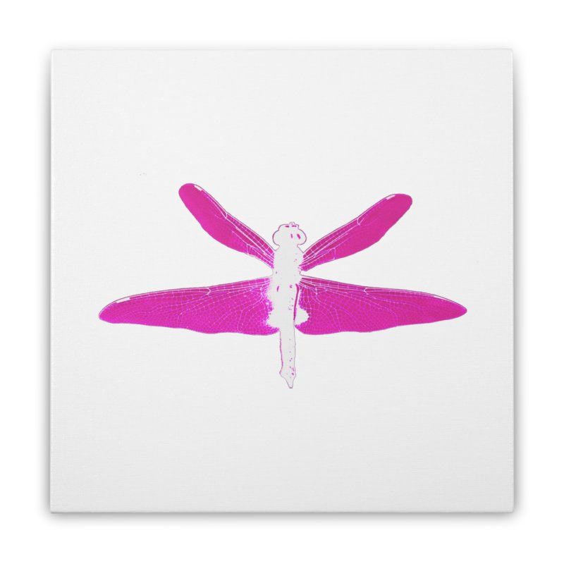 Dragonfly (Pink) Home Stretched Canvas by 7thSin Apparel