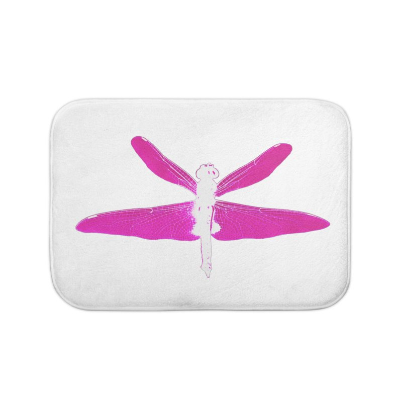 Dragonfly (Pink) Home Bath Mat by 7thSin Apparel