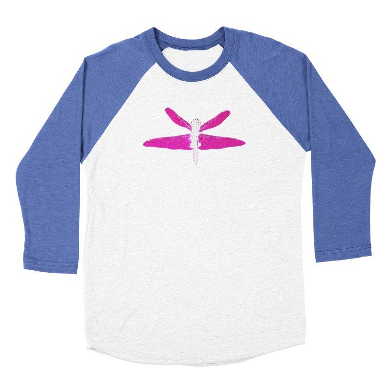 Dragonfly (Pink) Men's Baseball Triblend Longsleeve T-Shirt by 7thSin Apparel