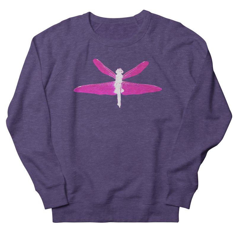 Dragonfly (Pink) Women's French Terry Sweatshirt by 7thSin Apparel