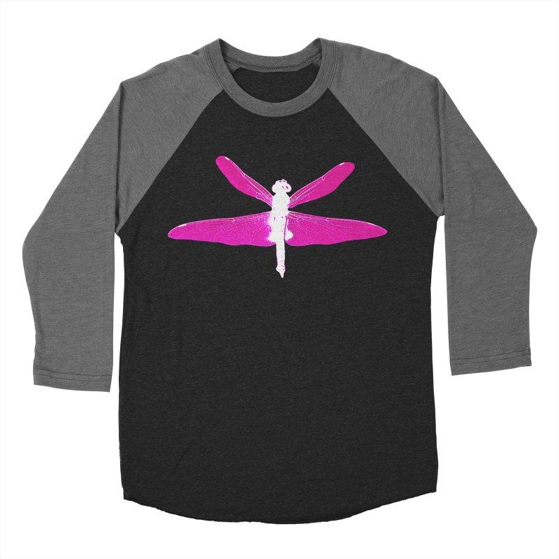Dragonfly (Pink) Women's Baseball Triblend Longsleeve T-Shirt by 7thSin Apparel