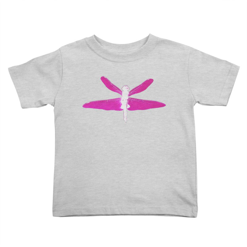 Dragonfly (Pink) Kids Toddler T-Shirt by 7thSin Apparel
