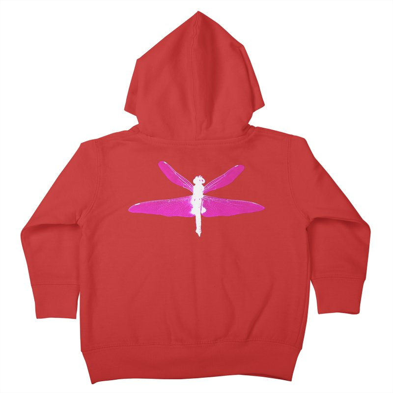 Dragonfly (Pink) Kids Toddler Zip-Up Hoody by 7thSin Apparel