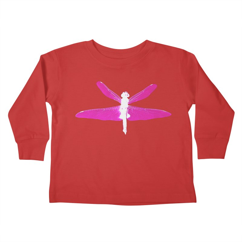 Dragonfly (Pink) Kids Toddler Longsleeve T-Shirt by 7thSin Apparel