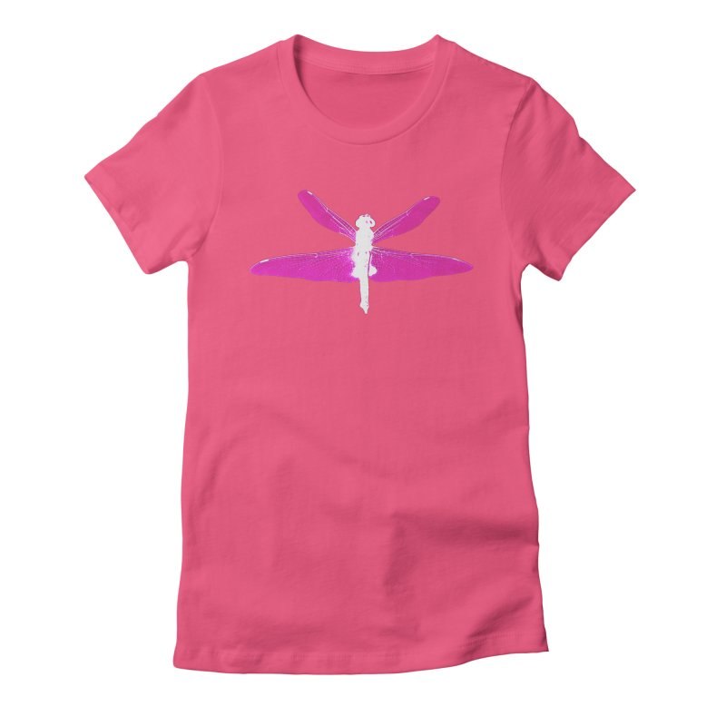 Dragonfly (Pink) Women's Fitted T-Shirt by 7thSin Apparel