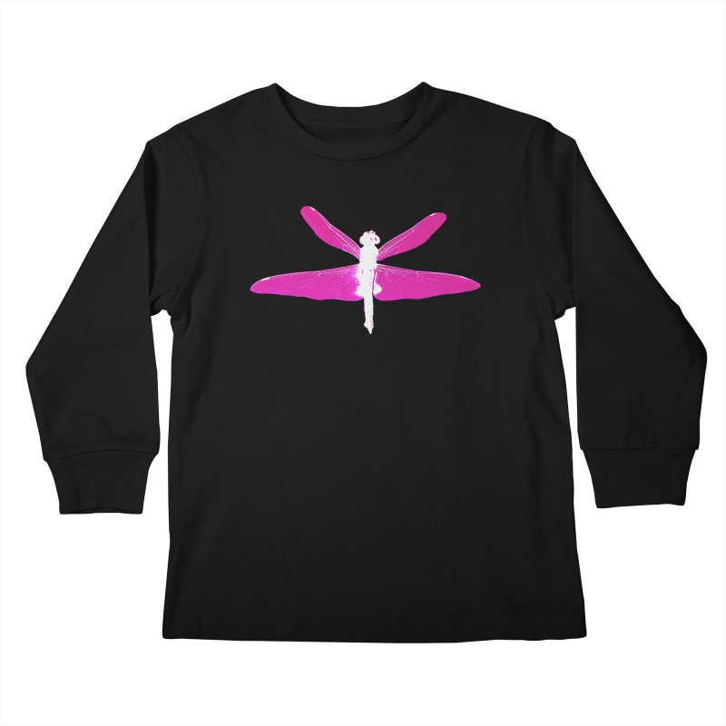 Dragonfly (Pink) Kids Longsleeve T-Shirt by 7thSin Apparel