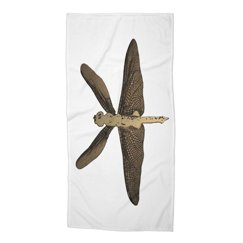 Dragonfly (Vintage) Accessories Beach Towel by 7thSin Apparel