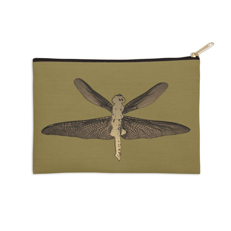 Dragonfly (Vintage) Accessories Zip Pouch by 7thSin Apparel