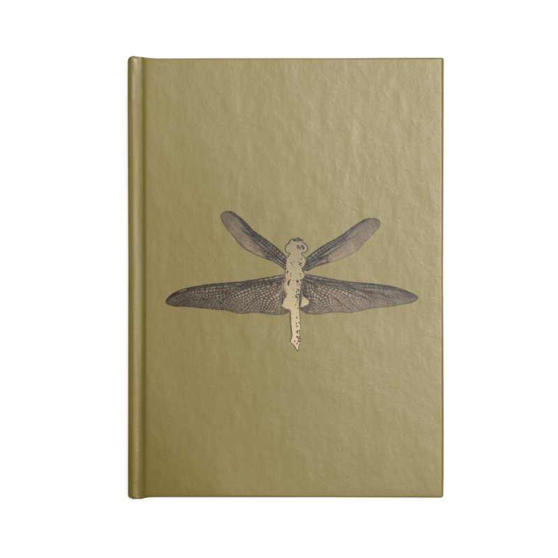 Dragonfly (Vintage) Accessories Lined Journal Notebook by 7thSin Apparel