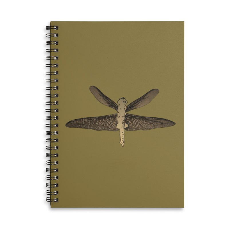 Dragonfly (Vintage) Accessories Lined Spiral Notebook by 7thSin Apparel