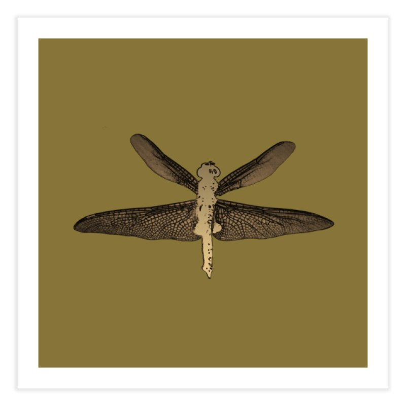Dragonfly (Vintage) Home Fine Art Print by 7thSin Apparel