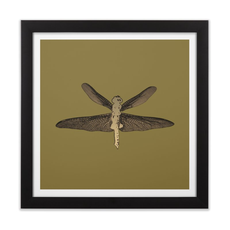 Dragonfly (Vintage) Home Framed Fine Art Print by 7thSin Apparel
