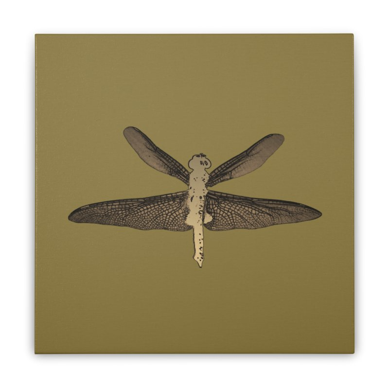 Dragonfly (Vintage) Home Stretched Canvas by 7thSin Apparel