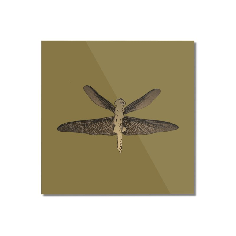 Dragonfly (Vintage) Home Mounted Acrylic Print by 7thSin Apparel