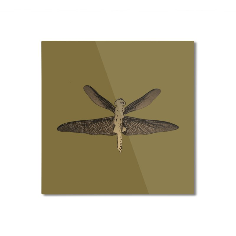 Dragonfly (Vintage) Home Mounted Aluminum Print by 7thSin Apparel