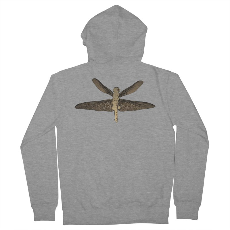 Dragonfly (Vintage) Men's French Terry Zip-Up Hoody by 7thSin Apparel