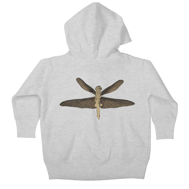 Dragonfly (Vintage) Kids Baby Zip-Up Hoody by 7thSin Apparel