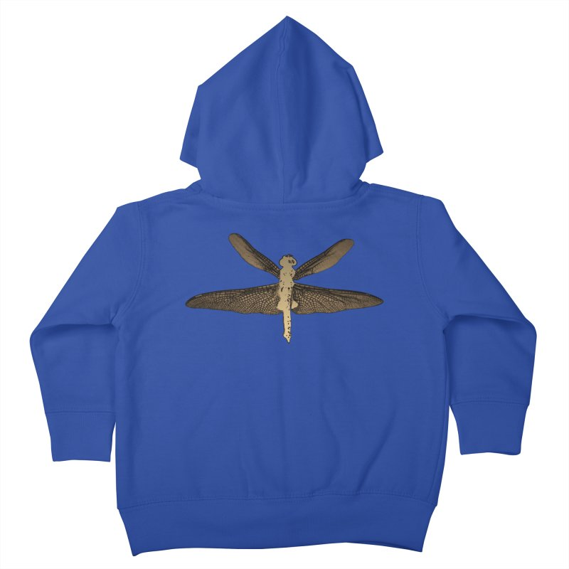 Dragonfly (Vintage) Kids Toddler Zip-Up Hoody by 7thSin Apparel