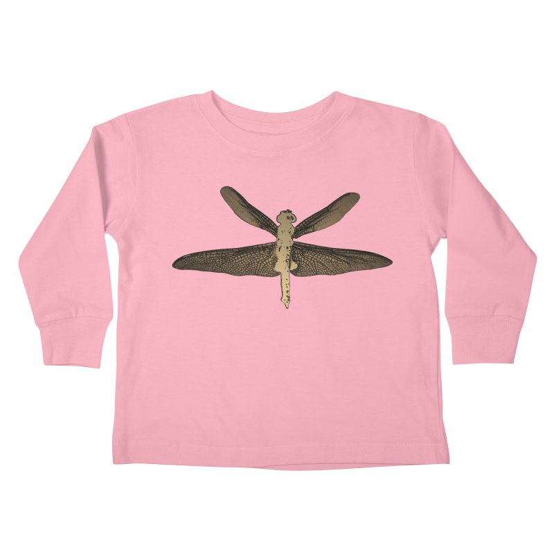 Dragonfly (Vintage) Kids Toddler Longsleeve T-Shirt by 7thSin Apparel