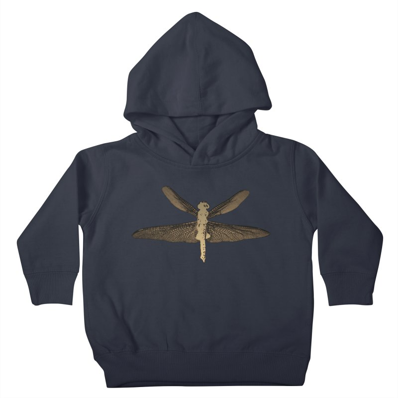 Dragonfly (Vintage) Kids Toddler Pullover Hoody by 7thSin Apparel