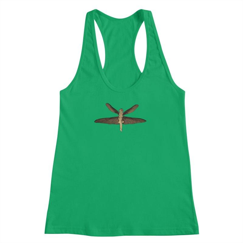 Dragonfly (Vintage) Women's Racerback Tank by 7thSin Apparel