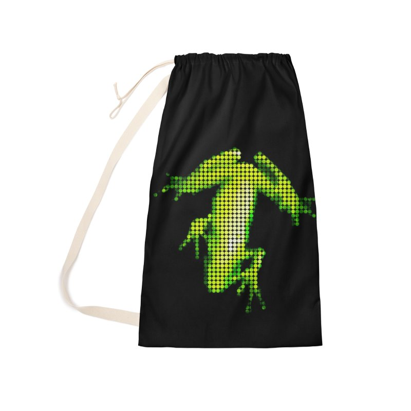 Frog Matrix Accessories Laundry Bag Bag by 7thSin Apparel