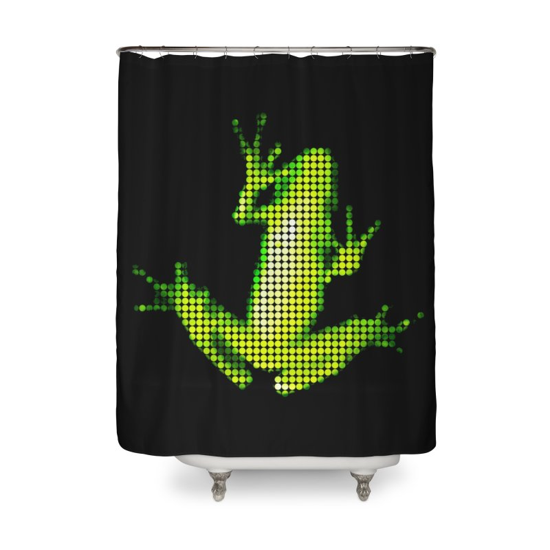 Frog Matrix Home Shower Curtain by 7thSin Apparel