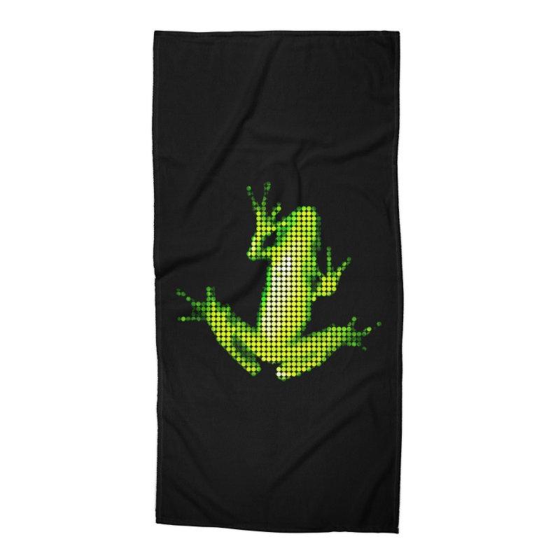 Frog Matrix Accessories Beach Towel by 7thSin Apparel