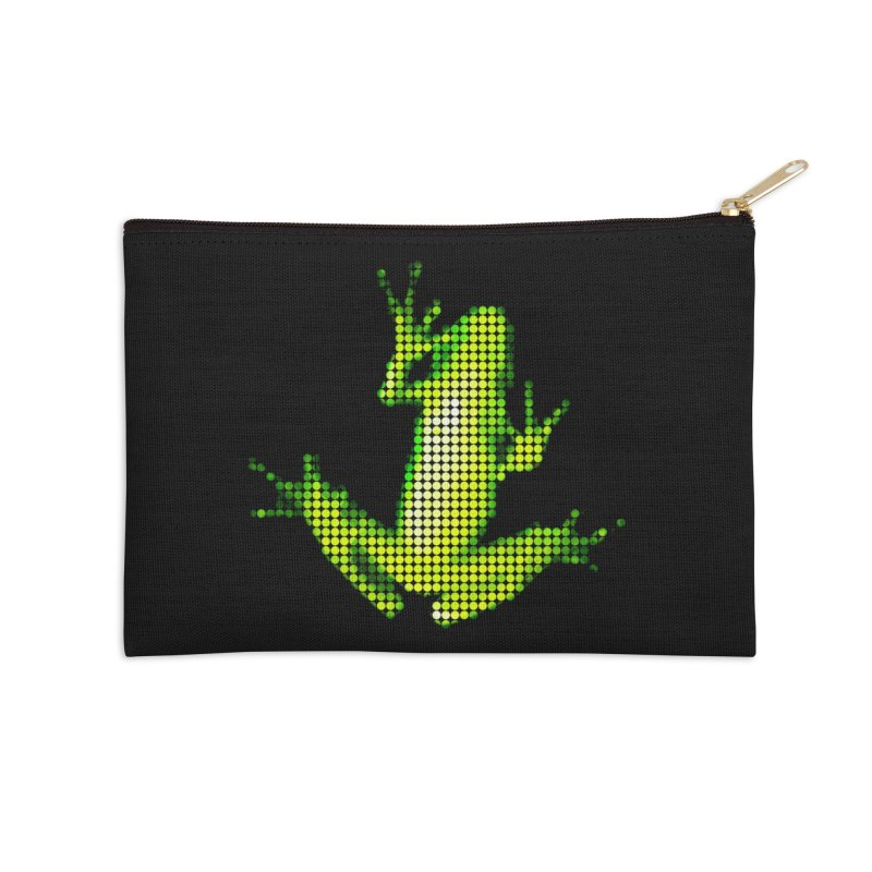Frog Matrix Accessories Zip Pouch by 7thSin Apparel
