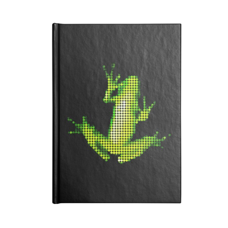 Frog Matrix Accessories Lined Journal Notebook by 7thSin Apparel