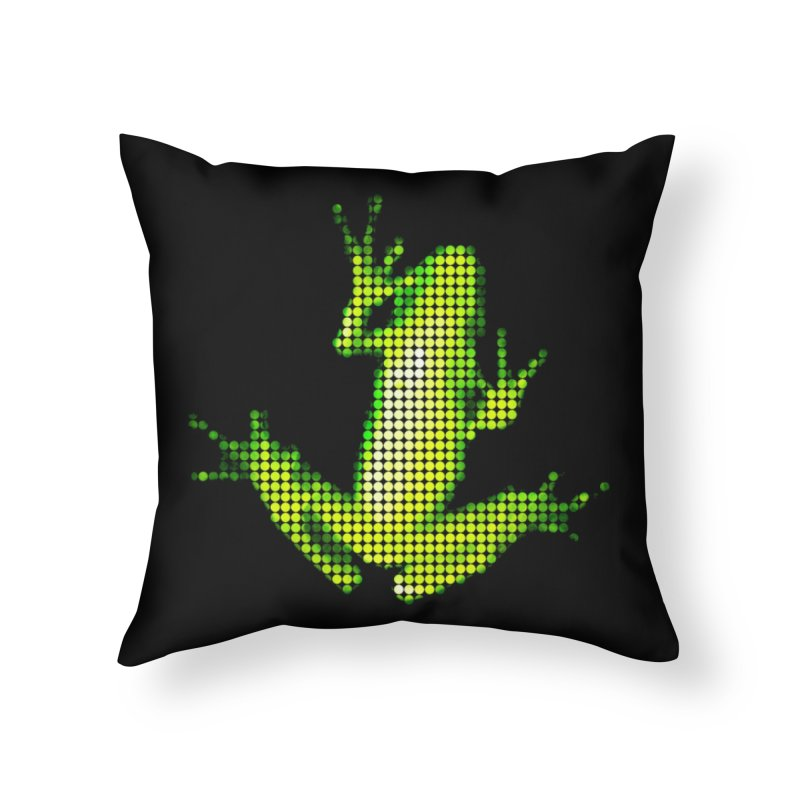 Frog Matrix Home Throw Pillow by 7thSin Apparel