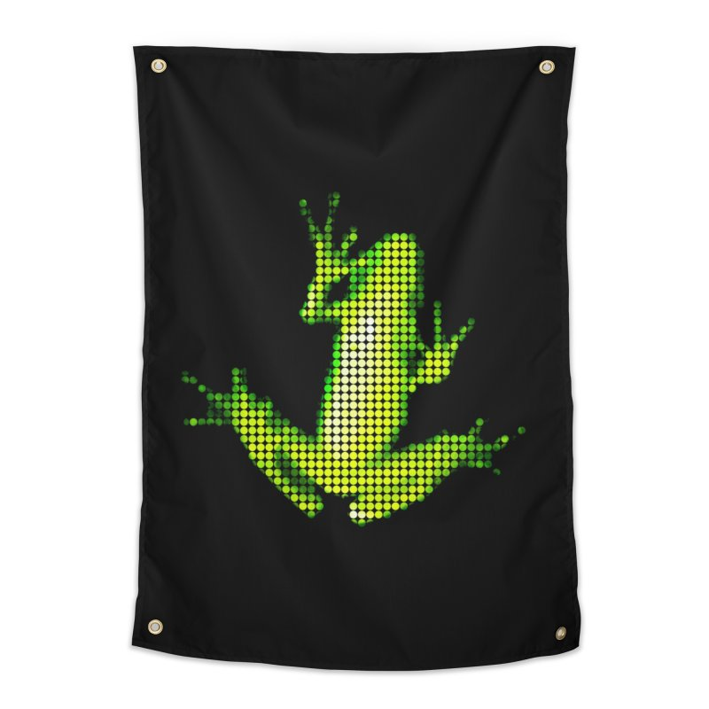 Frog Matrix Home Tapestry by 7thSin Apparel