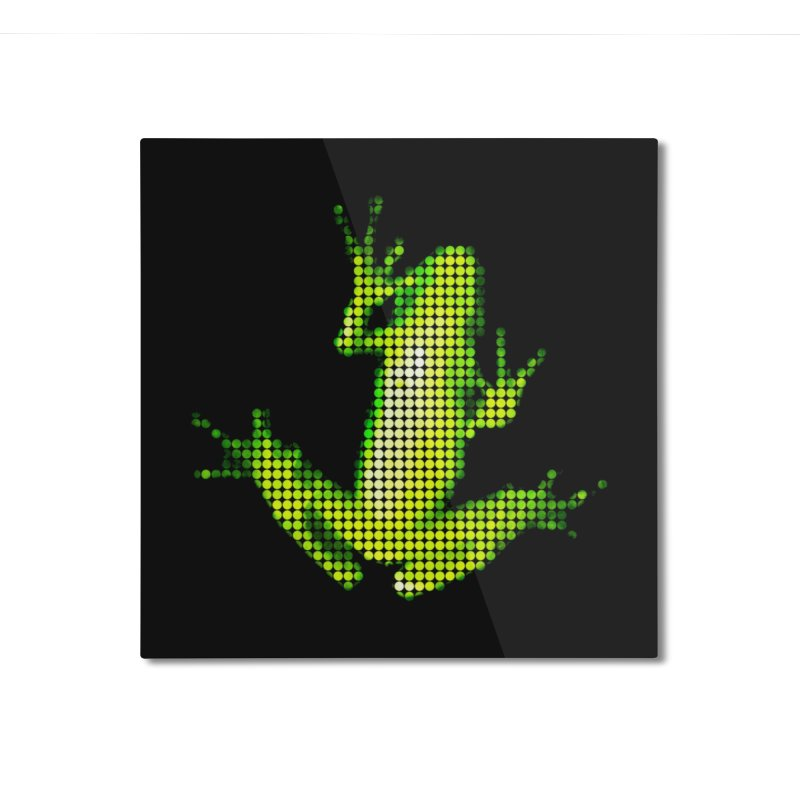 Frog Matrix Home Mounted Aluminum Print by 7thSin Apparel