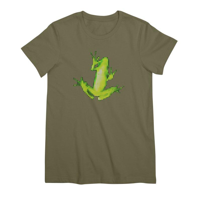 Frog Matrix Women's Premium T-Shirt by 7thSin Apparel
