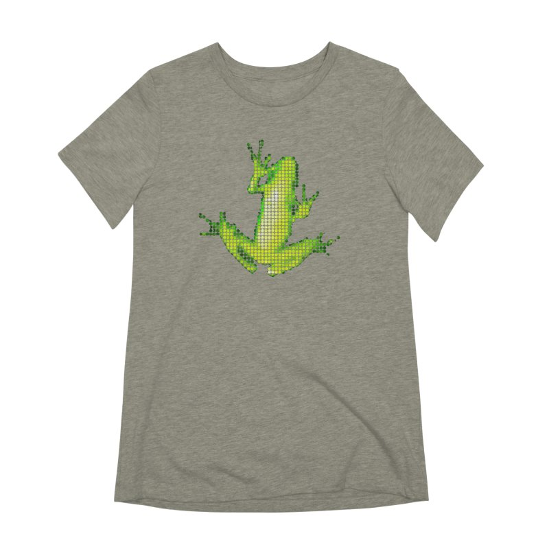 Frog Matrix Women's Extra Soft T-Shirt by 7thSin Apparel