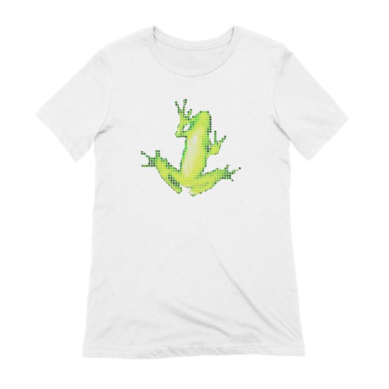 Frog Matrix Women's Extra Soft T-Shirt by 7thSin Apparel