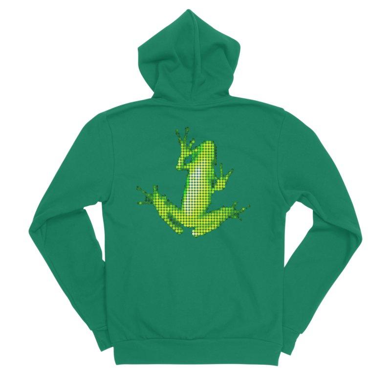 Frog Matrix Women's Sponge Fleece Zip-Up Hoody by 7thSin Apparel