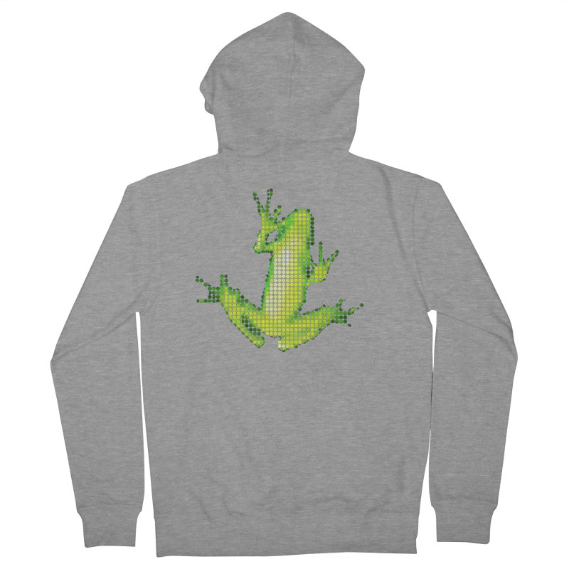Frog Matrix Women's French Terry Zip-Up Hoody by 7thSin Apparel
